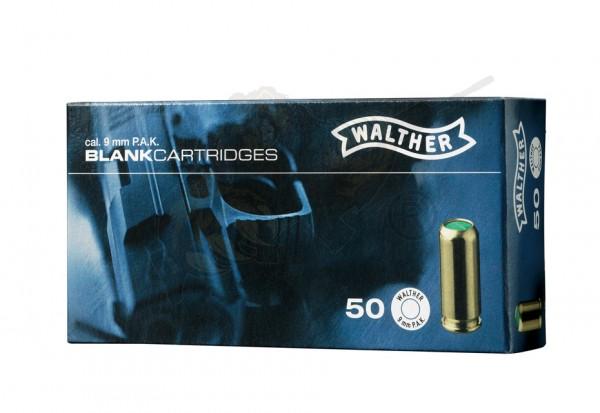Walther Platzpatronen cal. 9mm P.A.K. - 50 Schuss