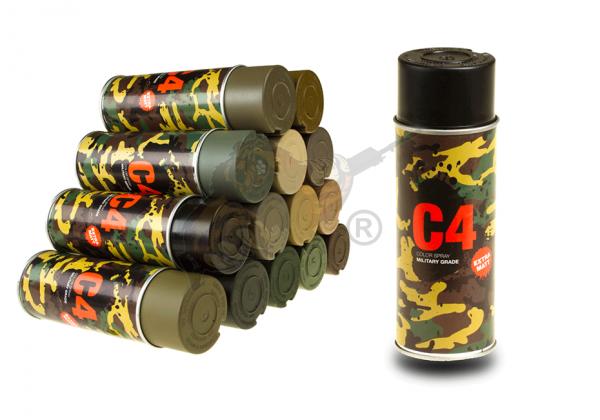 C4 Mil Grade Color Spray in RAL 9021 Teerschwarz - Armamat