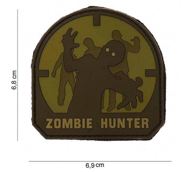 3D Zombie Hunter Rubber Patch- ARID