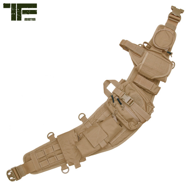 TF-2215 Molle Combat Belt Set mit Taschen, Holster usw. in Coyote
