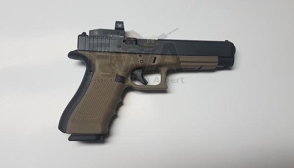 Glock 34 Gen 4 M.O.S. mit VENOM 3MOA Kaliber 9 x 19 Schwarz / Tan - Glock