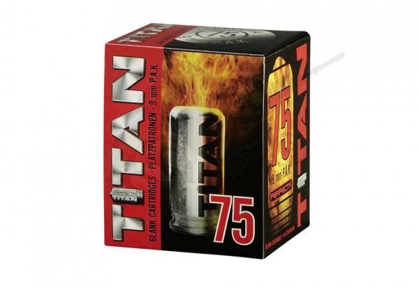 Perfecta Titan Platzpatronen cal. 9mm P.A.K. - 75 Schuss