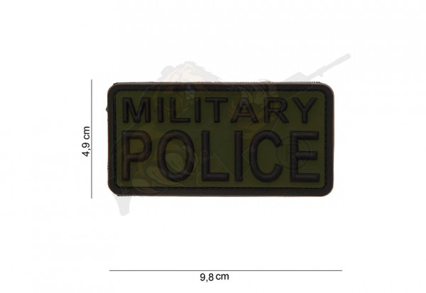 3D Rubber Patch Military Police - Oliv