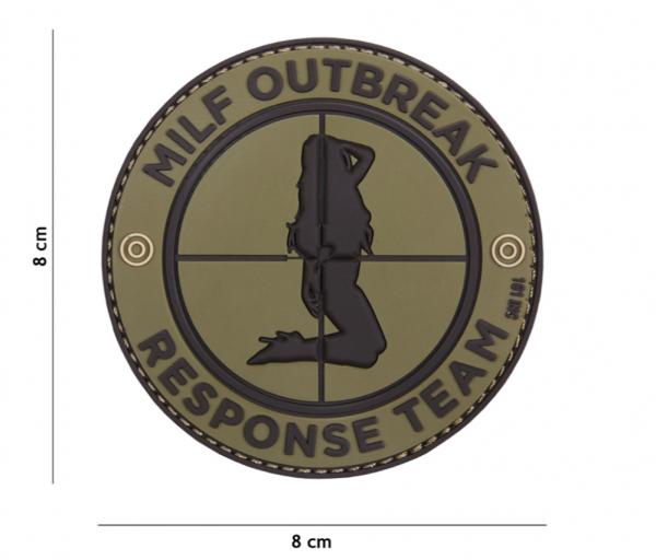 3D Milf Outbreak Rubber Patch- OD