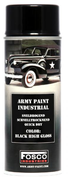 Farbspray Army Paint 400ml hochglanz Schwarz- Fosco Industries