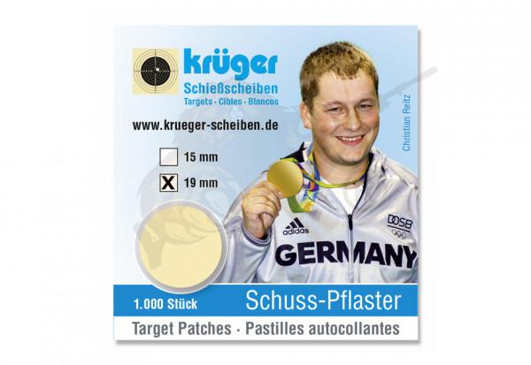 Schusspflaster 19mm Beige - Krüger