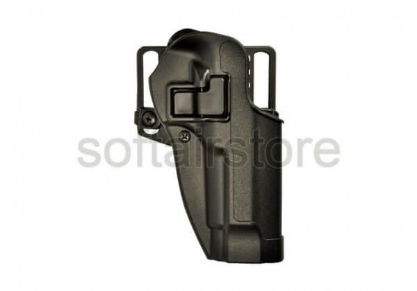 CQC Carbon-Fiber Holster mit SERPA Sicherung Beretta Paddle Schwarz - Links (Blackhawk)