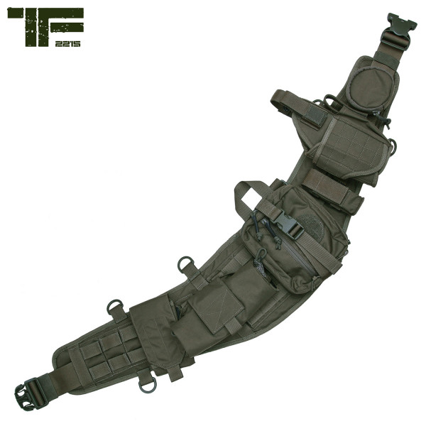 TF-2215 Molle Combat Belt Set mit Taschen, Holster usw. in Ranger Green