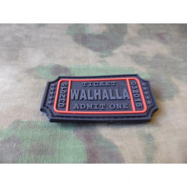 JTG - Walhalla Ticket Patch, blackops / 3D Rubber patch