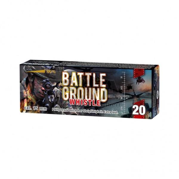 Battle Ground Whistle Feuerwerk - 20 Raketengeschosse