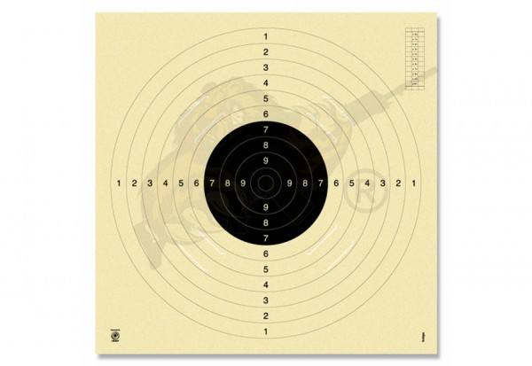 Pistole 25/50 m | Pistolen-Scheibe KK-Scheibe 100 m BDS-Scheibe für Gewehr 100 m