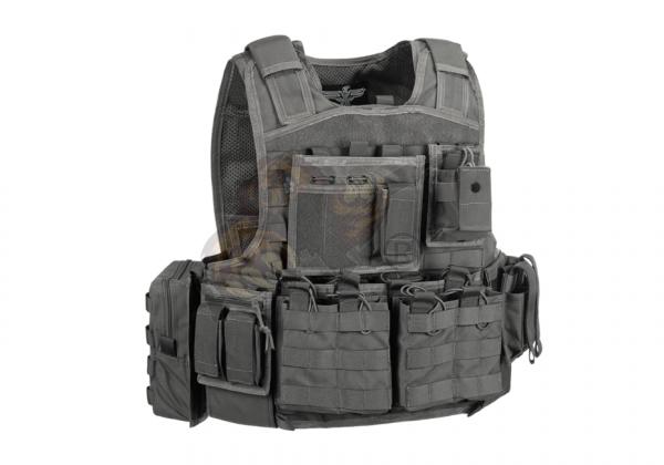 Mod Carrier Combo Wolf Grey (Invader Gear) - komplett mit Taschen ausgestatteter MOLLE Plattenträger