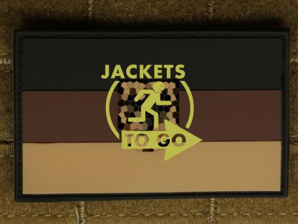 JTG - Deutschlandflagge - Patch, groß mit B.Adler, desert