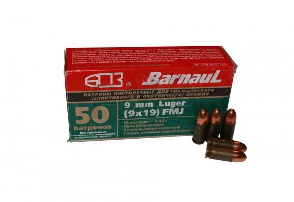 9mm Luger Vollmantel 50 Patronen - Barnaul