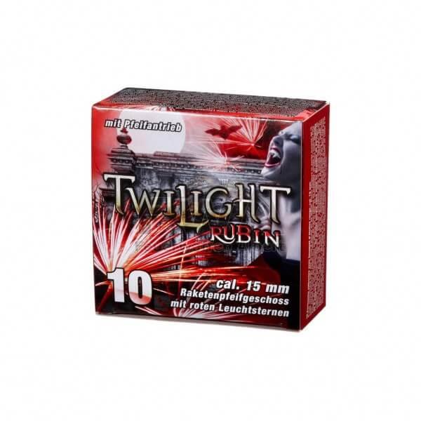 Twilight Rubin Feuerwerk - 10 Raketenpfeifgeschosse