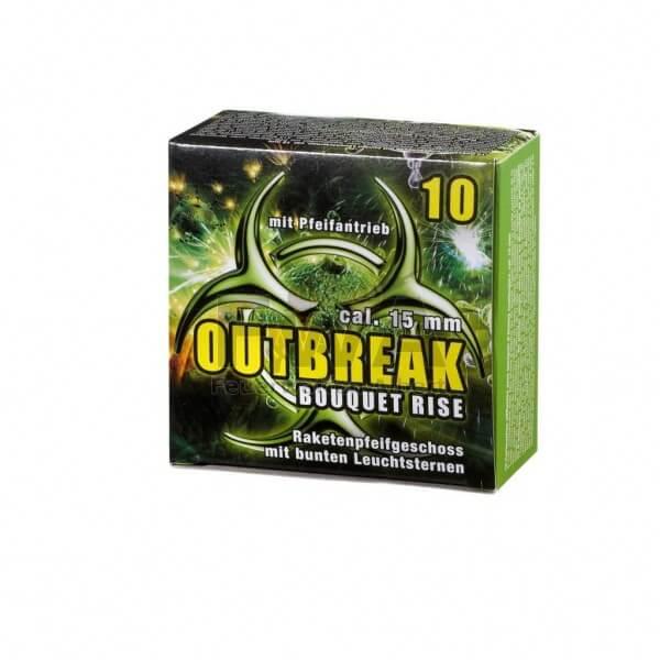 Outbreak Bouquet Rise Feuerwerk - 10 Raketenpfeifgeschosse