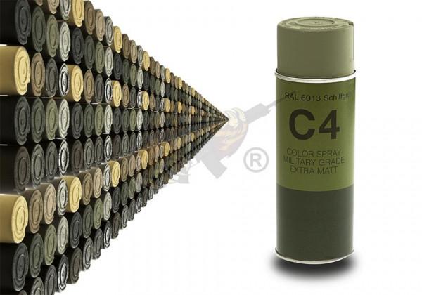 C4 Mil Grade Color Spray in RAL 6013 Schilfgrün - Armamat