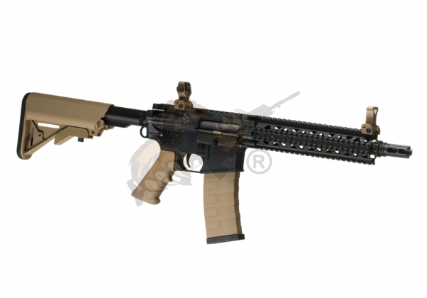 G&G CM18 Mod1 long RIS/rail cover Airsoft - max 0,5 Joule in schwarz/desert
