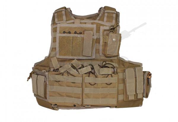 Mod Carrier Combo Coyote Brown (Invader Gear) - komplett mit Taschen ausgestatteter MOLLE Plattenträ