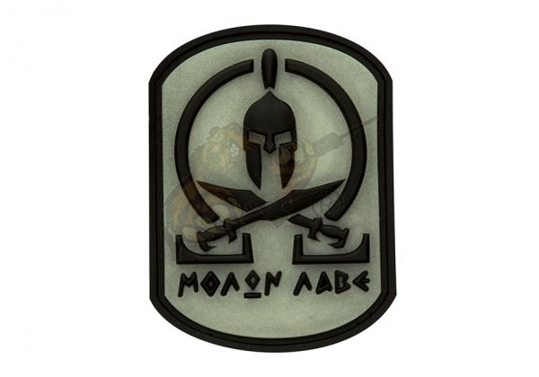 JTG - Molon Labe Rubber Patch Black Ghost