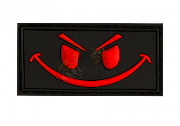 JTG - Evil Smiley Rubber Patch Blackmedic