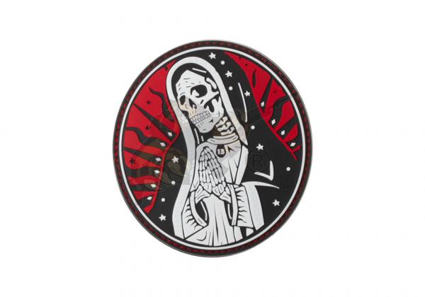 Santa Muerte Rubber Patch Red Sky - JTG