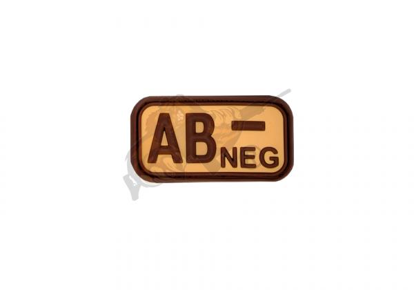 JTG - Bloodtype Rubber Patch - Blutgruppenpatch Desert AB - Negativ
