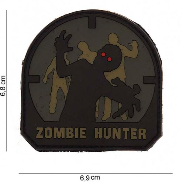 3D Zombie Hunter Rubber Patch- ACU-A