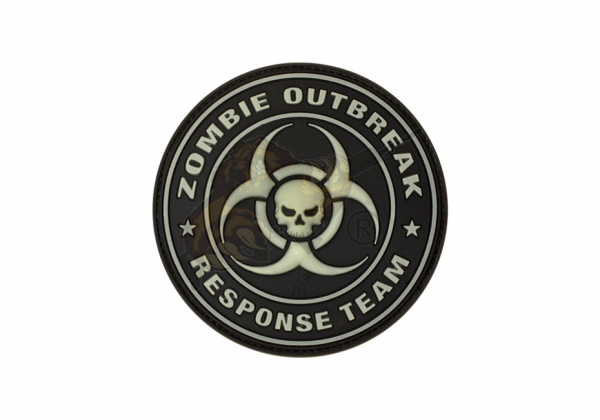 Zombie Outbreak Rubber Patch Glow in the Dark - JTG