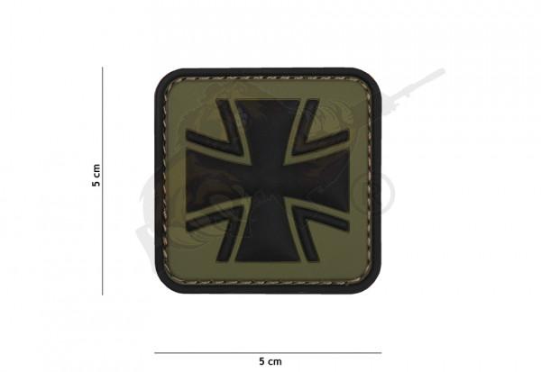 3D Rubber Patch German Cross - Green