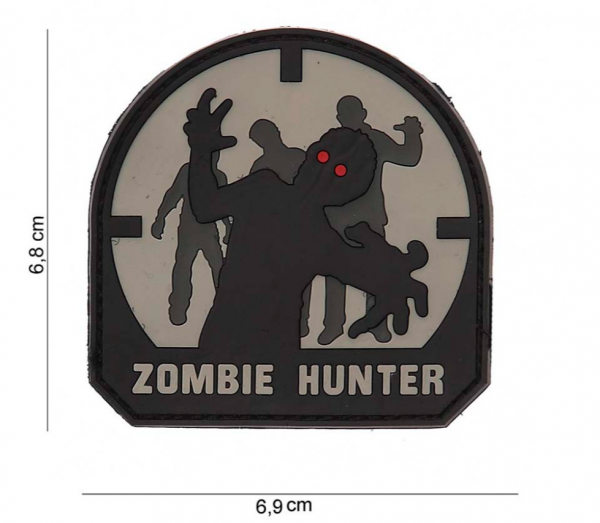 3D Zombie Hunter Rubber Patch- SWAT
