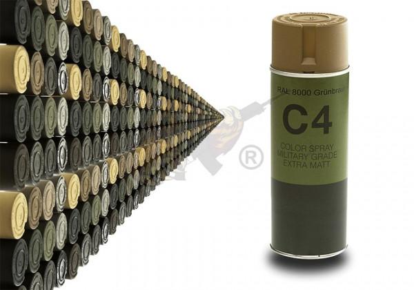 C4 Mil Grade Color Spray in RAL 8000 Grünbraun - Armamat