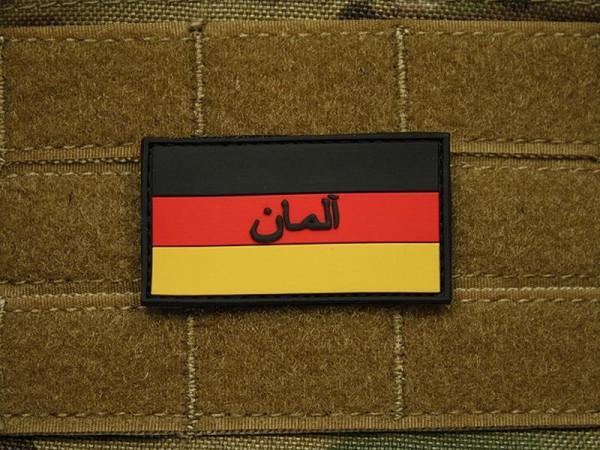 """JTG - Deutschland Flagge - Patch mit persischem Schriftzug """"Deutschland"""", fullcolor"""