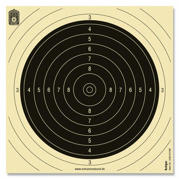 Wettkampfspiegel für Gewehr 50 m 1000stk. fortlaufend nummeriert