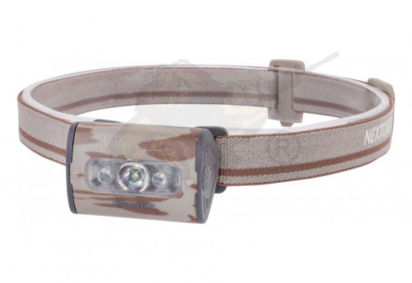 TrekStar ultrahelle LED Kopflampe in camouflage - 220 Lumen