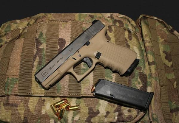 Glock 19 Gen 4 mod. Abzug im Kaliber 9 x 19 Schwarz/Tan - für Glock