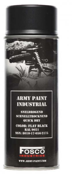 Farbspray Army Paint 400ml Mattschwarz- Fosco Industries