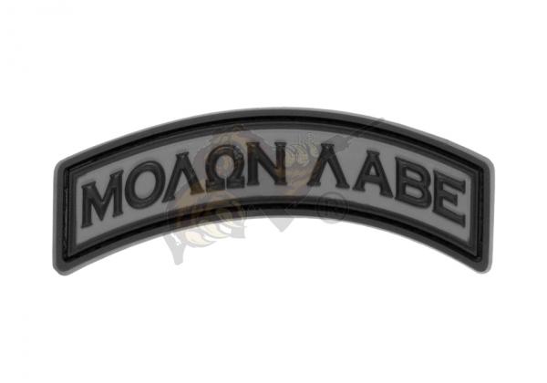 JTG - Molon Labe Tab Rubber Patch Oliv