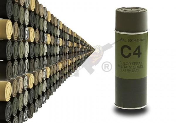C4 Mil Grade Color Spray in RAL 6014 Gelboliv - Armamat