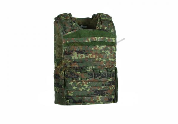 Mod Carrier Combo Flecktarn (Invader Gear) - komplett mit Taschen ausgestatteter MOLLE Plattenträger