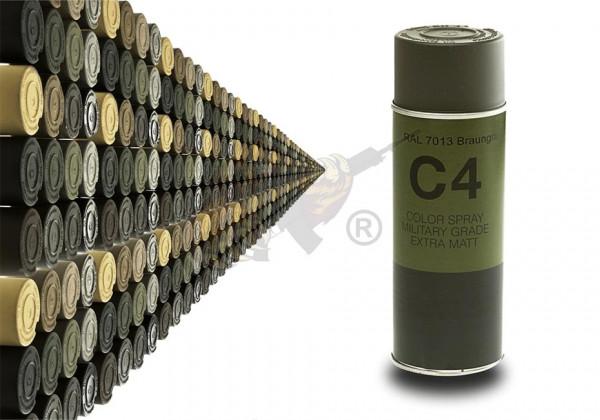 C4 Mil Grade Color Spray in RAL 7013 Braungrau - Armamat