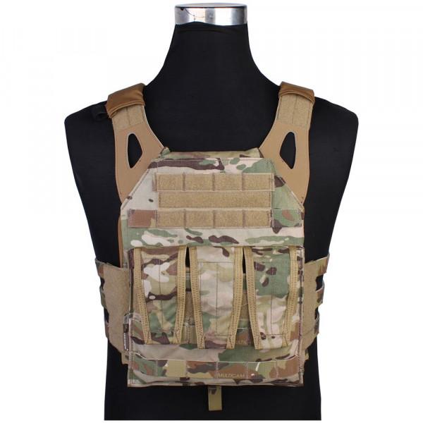 JPC Tactical Vest Airsoft Plate Carrier Multicam - Emerson