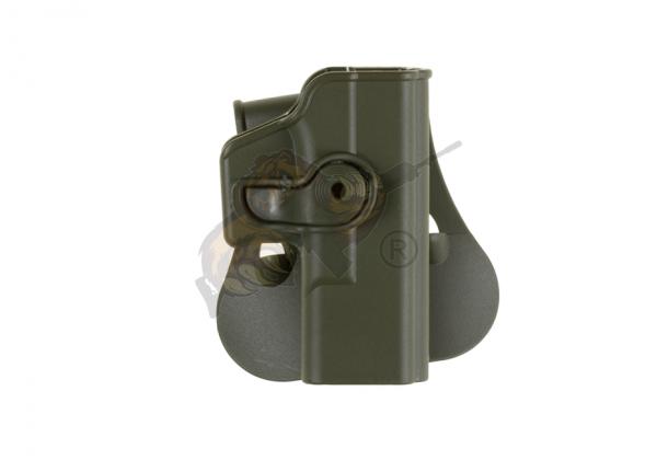 Roto Paddle Holster für Glock 19 Oliv (rechts) - IMI Defence