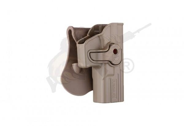 Amomax Holster (AM-GAGF) für WE, TM, KJW 17er Modelle, Gladius 17er Modelle, Cyma CM.030 AEP - FDE