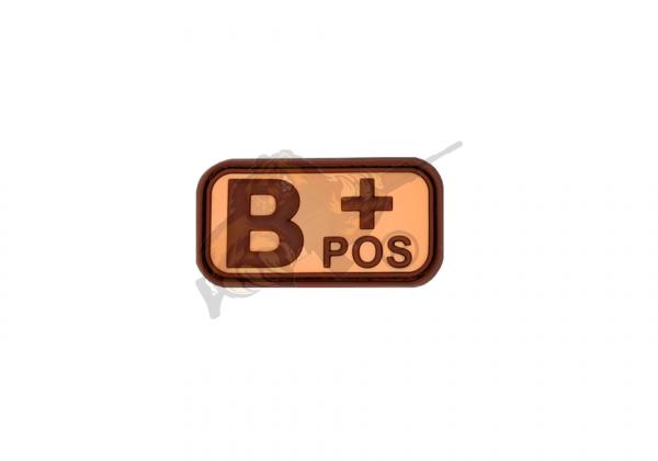 JTG - Bloodtype Rubber Patch - Blutgruppenpatch Desert B - Positiv