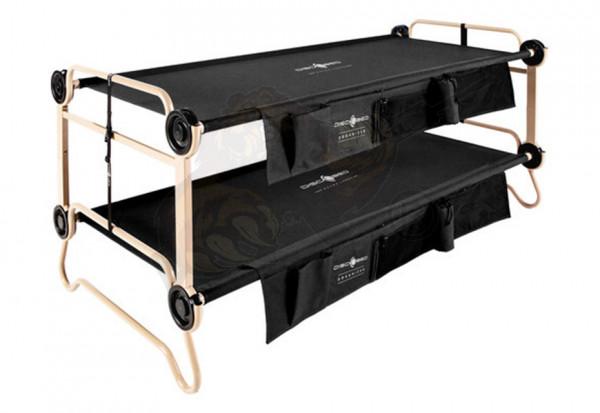 Disc-O-Bed XL schwarz mit Seitentaschen